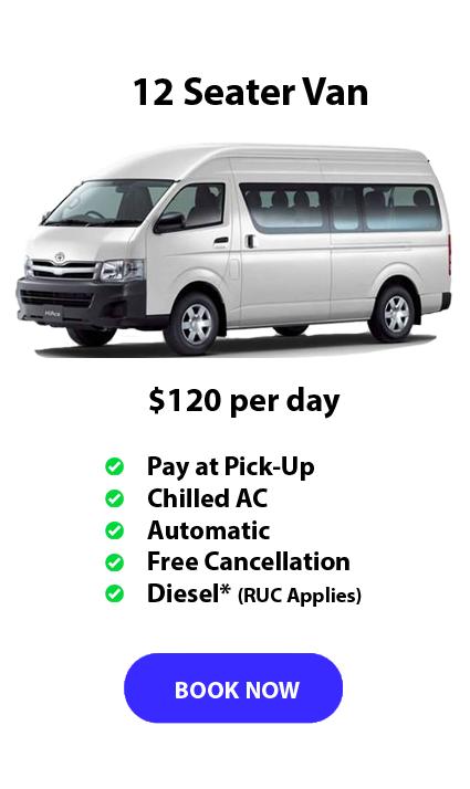 Auckland Aport Rentals 12 seater Van Range from $120 per day