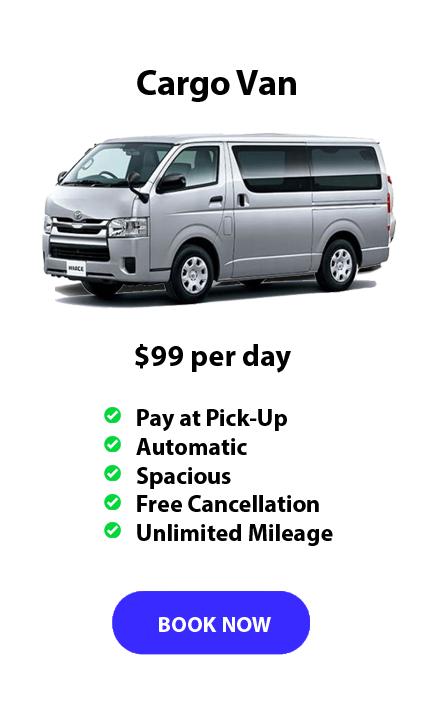 Auckland Aport Rentals Cargo Van Range from $99 per day