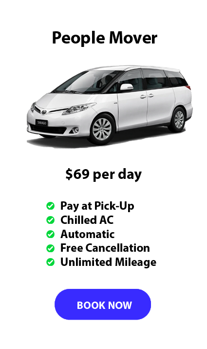 Auckland Aport Rentals People Mover Range from $69 per day