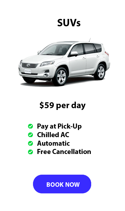 Auckland Aport Rentals SUV Range from $59 per day