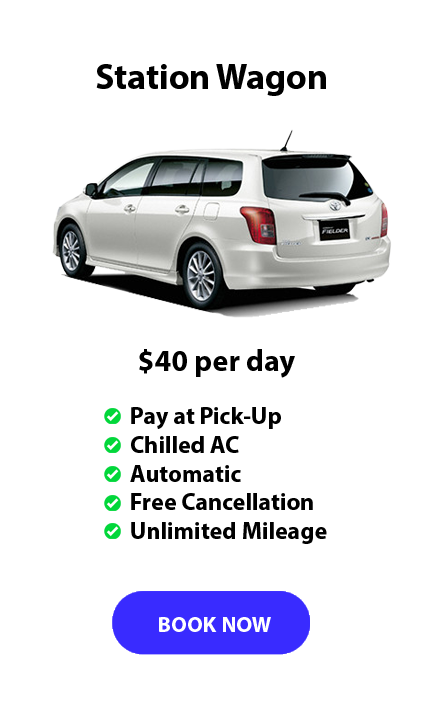 Auckland Aport Rentals station wagon Range from $40 per day